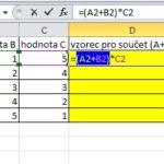 Jak v Excelu převést vzorec nebo jeho část v buňce na hodnotu (text či číslo)
